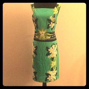 Super cute tropical sheath dress